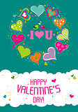 Template Valentine greeting card, vector