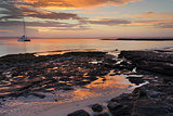 Sunset seascape at Cabbage Tree Beach Jervis Bay