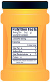 Plastic container with Nutrition Facts