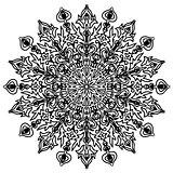floral pattern round