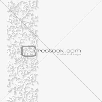 Abstract paper floral background. Vector illustration