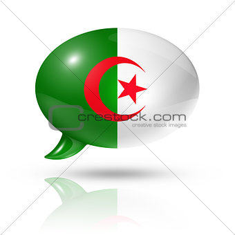 Algerian flag speech bubble