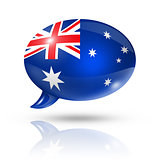 Australian flag speech bubble