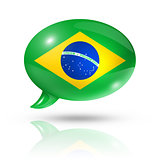 Brazilian flag speech bubble