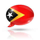 East Timor flag speech bubble