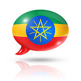 Ethiopian flag speech bubble