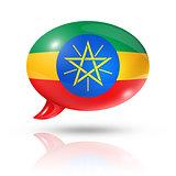 Ethiopian flag speech bubble