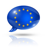 European union flag speech bubble