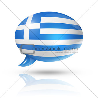 Greek flag speech bubble