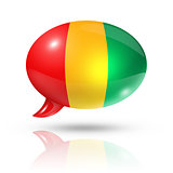 Guinean flag speech bubble