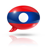Laotian flag speech bubble