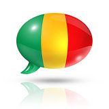 Malian flag speech bubble