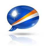 Marshall Islands flag speech bubble