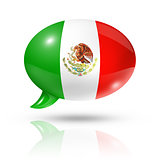 Mexican flag speech bubble