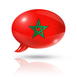 Moroccan flag speech bubble