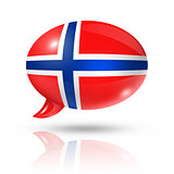 Norwegian flag speech bubble