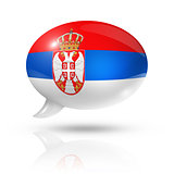Serbian flag speech bubble