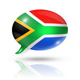 South African flag speech bubble