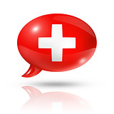 Swiss flag speech bubble