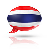 Thai flag speech bubble