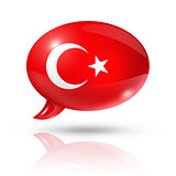 Turkish flag speech bubble