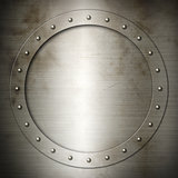 Old brushed Steel round frame