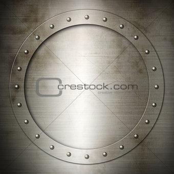 Old brushed Steel round frame