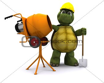 tortoise builder with cement mixer