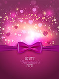 Valentine's Day background with ribbon