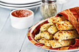 Cheesy Asiago Breadsticks and Marinara Sauce