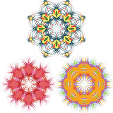 Mandala Round Pattern Set Vector