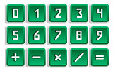Green Numeric Button Set