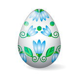 Easter Egg with lily decor