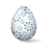 Easter Egg with camomile decor