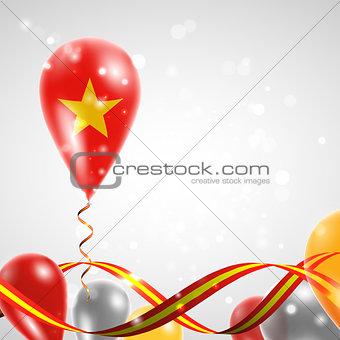 Flag of Vietnam on balloon