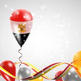 Flag of Egypt on balloon