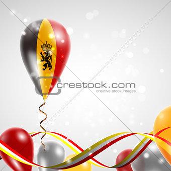 Flag of Belgium on balloon