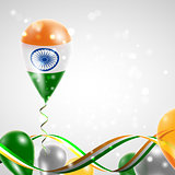 Flag of India on balloon