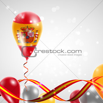 Flag of Spain on balloon