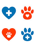 veterinarian icons set