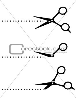cutting scissors and black points