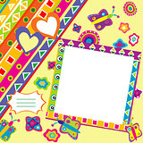Scrapbook with doodle elements and place for your picture