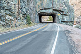 highway tunnel in Rocky Mountains