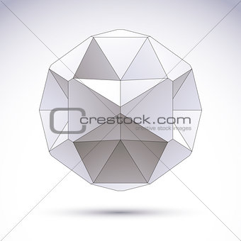 Abstract vector 3D object, clear eps 8.