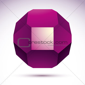 Abstract vector 3D geometric object, clear eps 8.