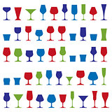 Decorative drinking glasses collection. Set of celebration goble