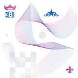Elegant flowing lines vector background, royal design, eps8. Rom