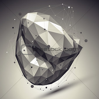 Abstract deformed vector undertone asymmetric object with lines