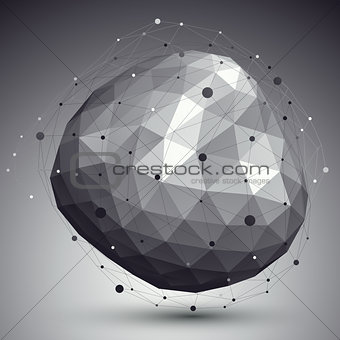3D mesh modern stylish abstract background, origami rounded face