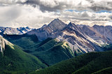 Scenic view of Rocky mountains range, Alberta, Canada